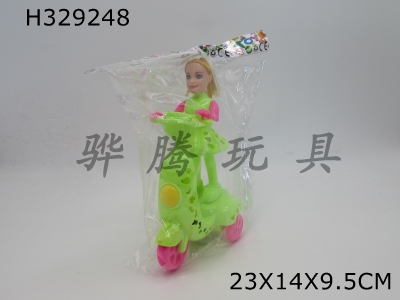 H329248 - Barbie Balancing Car with Cable Lighting