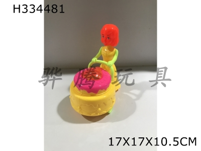 H334481 - Cake Car with Wire Lighting (Girl Head)