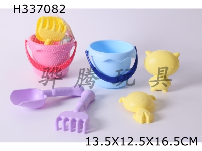 H337082 - Beach Soft Rubber Bucket Combination