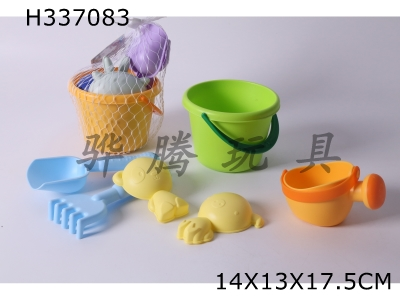 H337083 - Beach Soft Rubber Bucket Combination