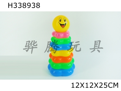 H338938 - Seven-layer Smiling Face Plum Blossom-shaped Loop