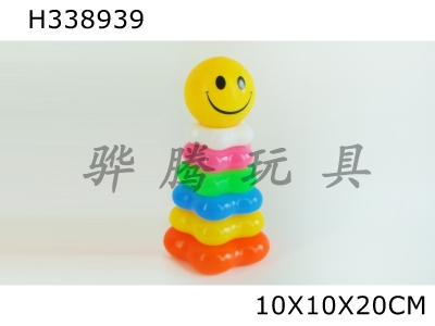 H338939 - 6-tier Smiling Face Plum Blossom-shaped Loop