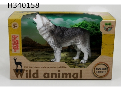 H340158 - Glue Enamel Animal-Grey Wolf