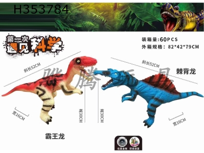 H353784 - Enamel dinosaur with IC (simulated dinosaur sound) two mixed