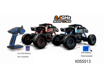 H355513 - 1: 16 four-wheel drive 4-way PVC shell 2.4G remote-controlled cross-country climbing car